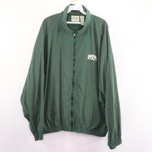 90s Reebok Mens Large Michigan State Jacket Green